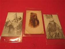 Lot of 3-Native American photo cards/ postcard