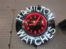 Incredible Hamilton Watches neon clock