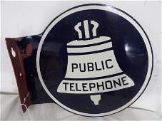 DST Ohio Bell Public Telephone flange sign