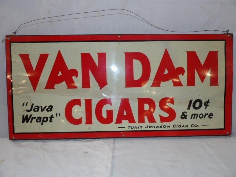 SST Van Dam Cigar sign