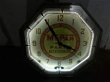 Outstanding Mopar Parts Accessories neon clock