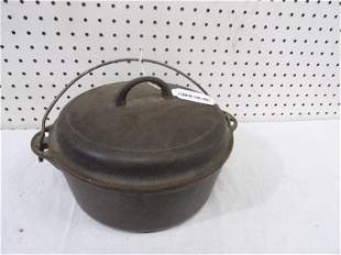 Griswold number 8 cast iron Dutch oven