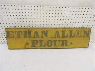 Ethan Allen Flour Wooden Primitive Sign