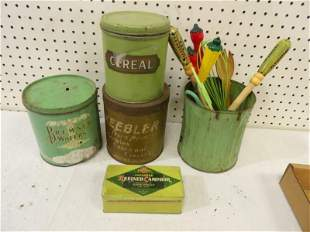 4- Painted Tins and Kitchen Utensils