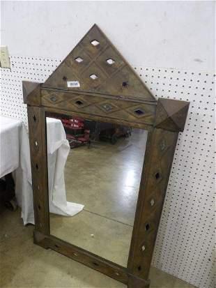 Quality Pierced Tin Decorated Wall Mirror