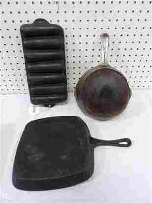 Three-piece Cast Iron Lot