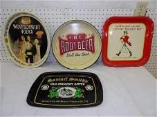 Four Advertising Trays