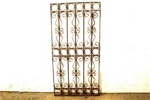 Early 1900's Cast Iron Garden Panel