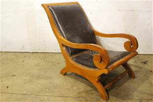 Early American Leather Chair
