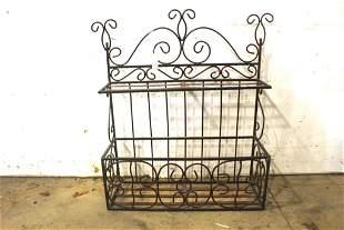 Vintage Bent Wire Wall Shelf