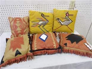 Three Sets of Spanish Decorative Pillows
