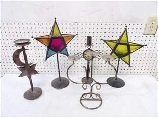 Five Decorative Candle Sticks