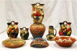 20th Century Decorative Mexican Pottery Lot
