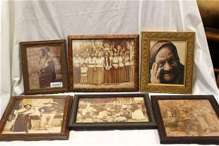 Six Spanish Mexican Themed Framed Prints