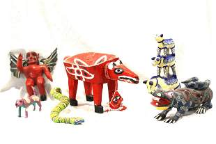 Southwest and Mexican Wood Sculptures