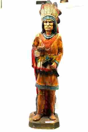 Carved Indian Cigar Store Statue