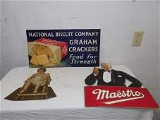 Great three piece cardboard advertising lot
