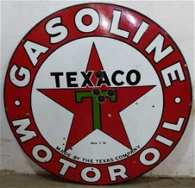 "DSP Texaco Motor Oil ""Black T"" sign"