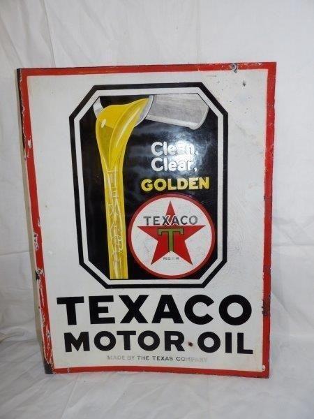 DSP Texaco Motor Oil flange sign