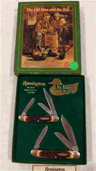 "Remington-UMC ""The Old Man & the Boy"" 2-knife set"