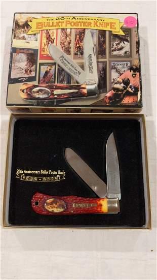 Remington 20th anniversary bullet poster knife
