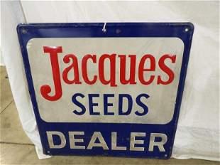 SST Jacques Seeds Dealer embossed sign