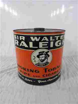 Excellent Sir Walter Raleigh tobacco tin
