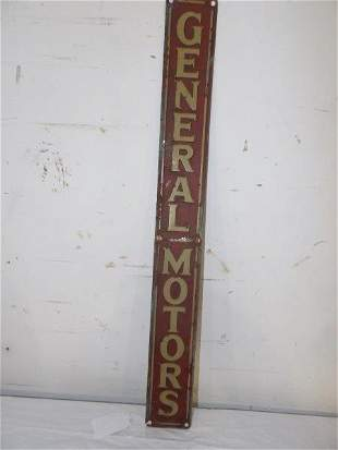 SST General Motors embossed sign