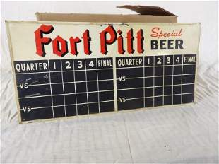DST 1949 Ford Pitt Special Beer scoreboard sign