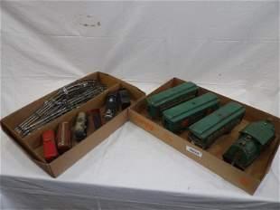 Lionel G scale 4-pc. & Marx 6 pc. Train sets