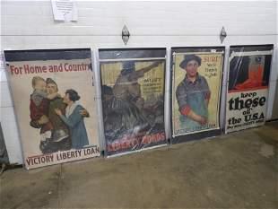 4- Liberty Bonds & Loans original paper posters
