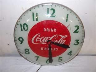 Dink Coca-Cola in bottles Swihart clock