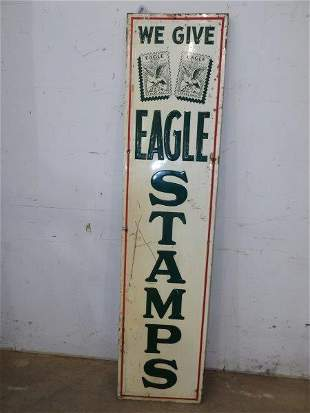 SST We Give Eagle Stamps embossed sign