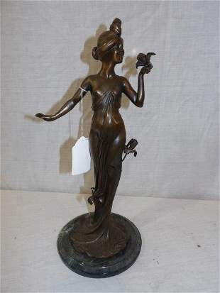 Art Nouveau C. Bonnefond bronze sculpture