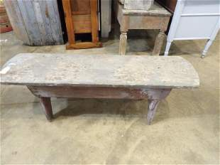 Primitive painted bench