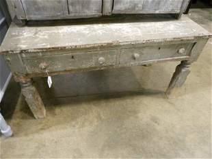 Primitive 2- drawer table