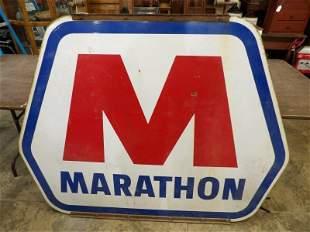 Lg. DSP Marathon sign with original hanging bracket