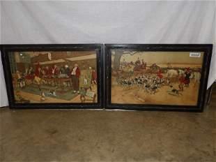 Original Arts n Crafts Fallowfield hunting lithographs
