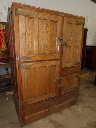 Lg. Frigidaire wooden ice box