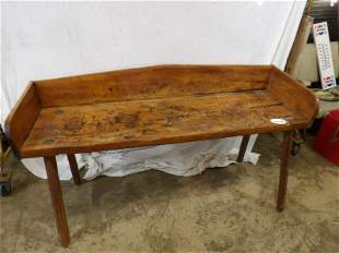Primitive mortised chopping bench