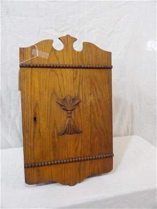 Early American Oak hanging cabinet