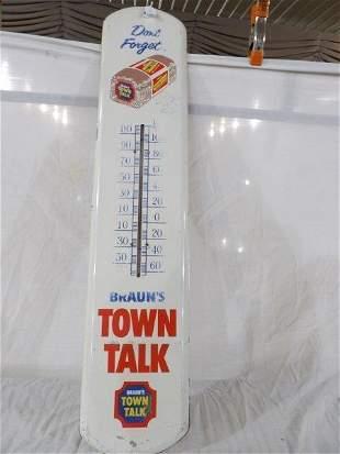Braun's Town Talk Bread metal thermometer
