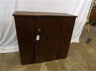 Primitive Square nailed single door cabinet