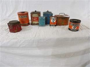 Eight piece tobacco tin lot