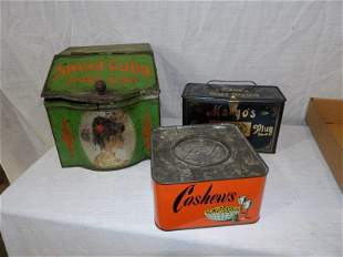 Sweet Cuba, Mayo's Tobacco tins and Cashew tin