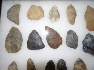 31 pcs. of Lithic material culture stone tools, etc.
