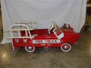 Murray pedal fire truck with ladders