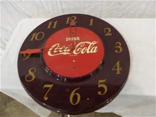 Metal Coca-Cola clock