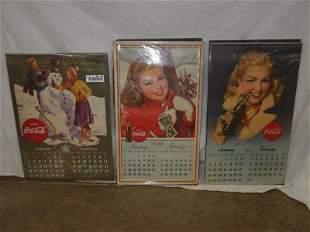 1942 1947 1948 complete Coca-Cola calendars