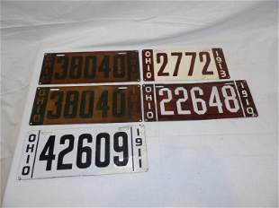 5- early Ohio license plates